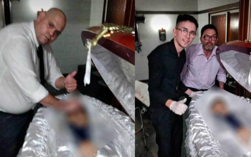 Funcionário de funerária é demitido por tirar foto com o corpo de Maradona  - PBNews