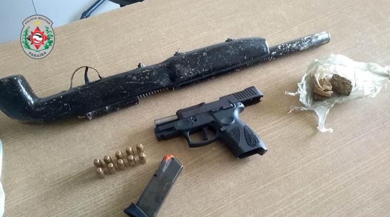 Polícia apreende armas com suspeito de intimidar moradores de comunidade na Capital