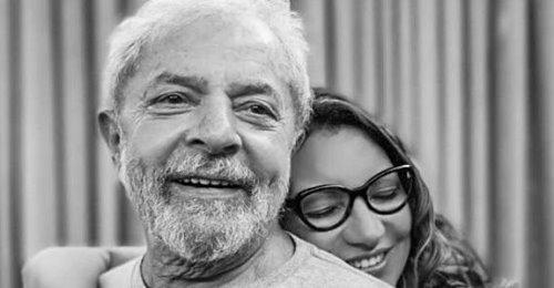 Ex-presidente Lula e sua namorada, a socióloga Rosângela da Silva, conhecida como Janja