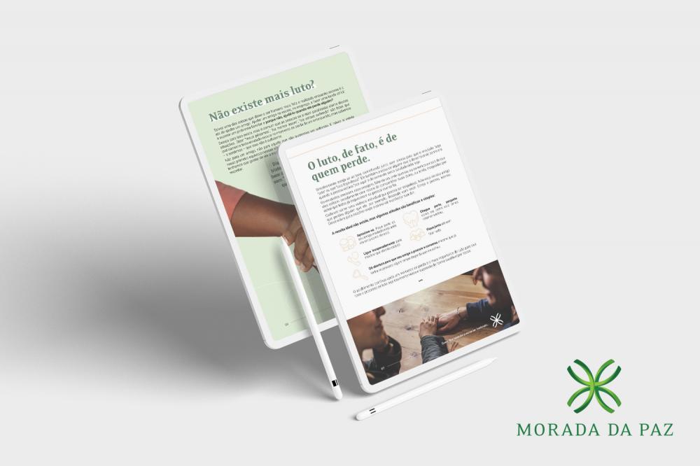 O material gratuito pode ser baixado diretamente do site do Morada da Paz, www.moradadapaz.com.br ou através do link bit.ly/GuiaQuemFica.